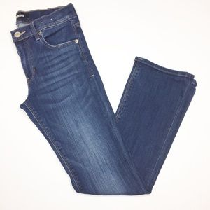 Express barely Bootcut Jeans mid rise 4 short